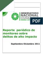 ONC. Reporte de Delitos de Alto Impacto