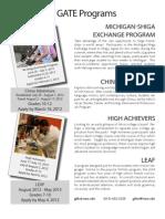 All Programs Flyer 2012-2013