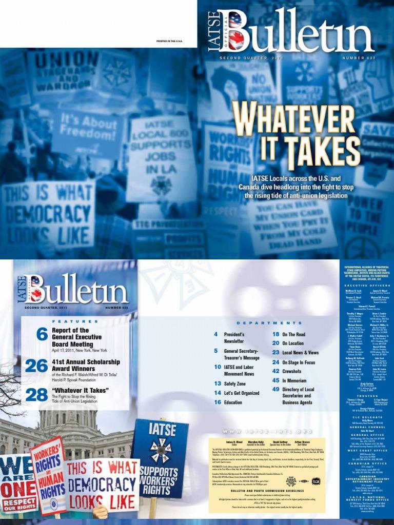 The Official Bulletin: 2011 Q2 / No. 632 | Trade Union | Afl–Cio