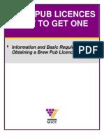 Brew Pub Licence Brochure Final
