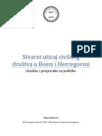 IBHI Stvarni Uticaj Civilnog Drustva u Bosni i Hercegovini