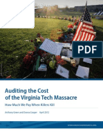 Auditing the Cost of the Virginia Tech Massacre