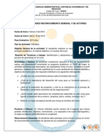 Guia de Actividades y Rubrica de Evaluacion Del Reconocimiento General y de Actores