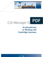 Cambridge Associates Manager Guide