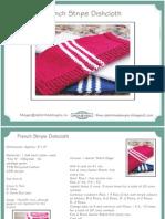 French Stripe Dishcloth