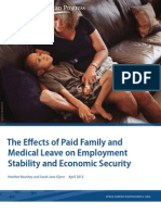 The Effects of Paid Family and Medical Leave on Employment Stability and Economic Security