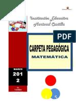 Fredy Anccasi Cayllahua CARPETA PEDAGÓGICA 2011
