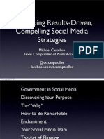 Developing Results Driven, Compelling Social Media Strategies in State Government
