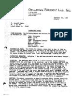 Oklahoma Forensic Lab Report