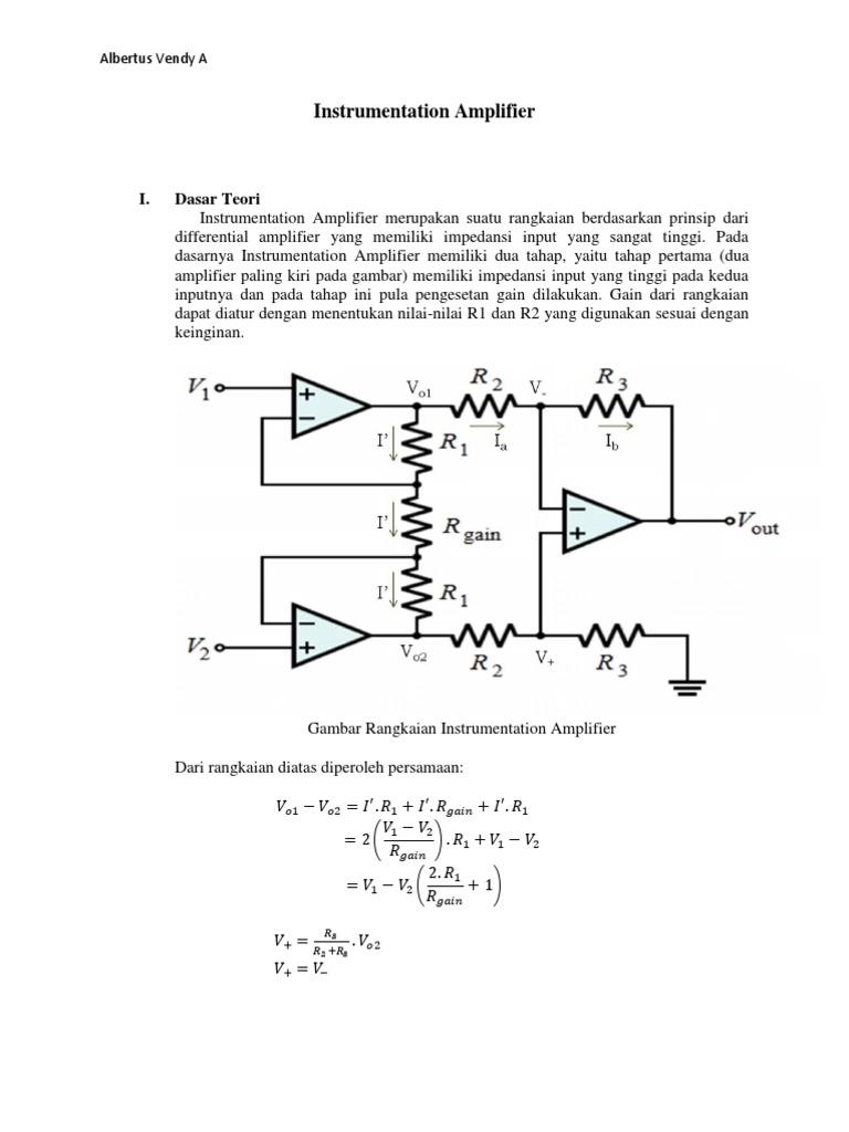 Instrumentation Amplifier Rangkaian 1533081331v1