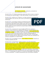 Historico Apos o Protocolo Da Representacao