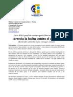 Más difícil para los asesinos pedir libertad a prueba Arrecia la lucha contra el crimen(Extienden amnistía para entregar armas)