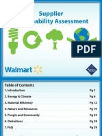 WalMart Supplier Sustainability Assessment