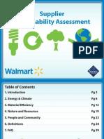 WalMart Supplier Sustainability Assessment