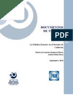 Politica Exterior Calderon