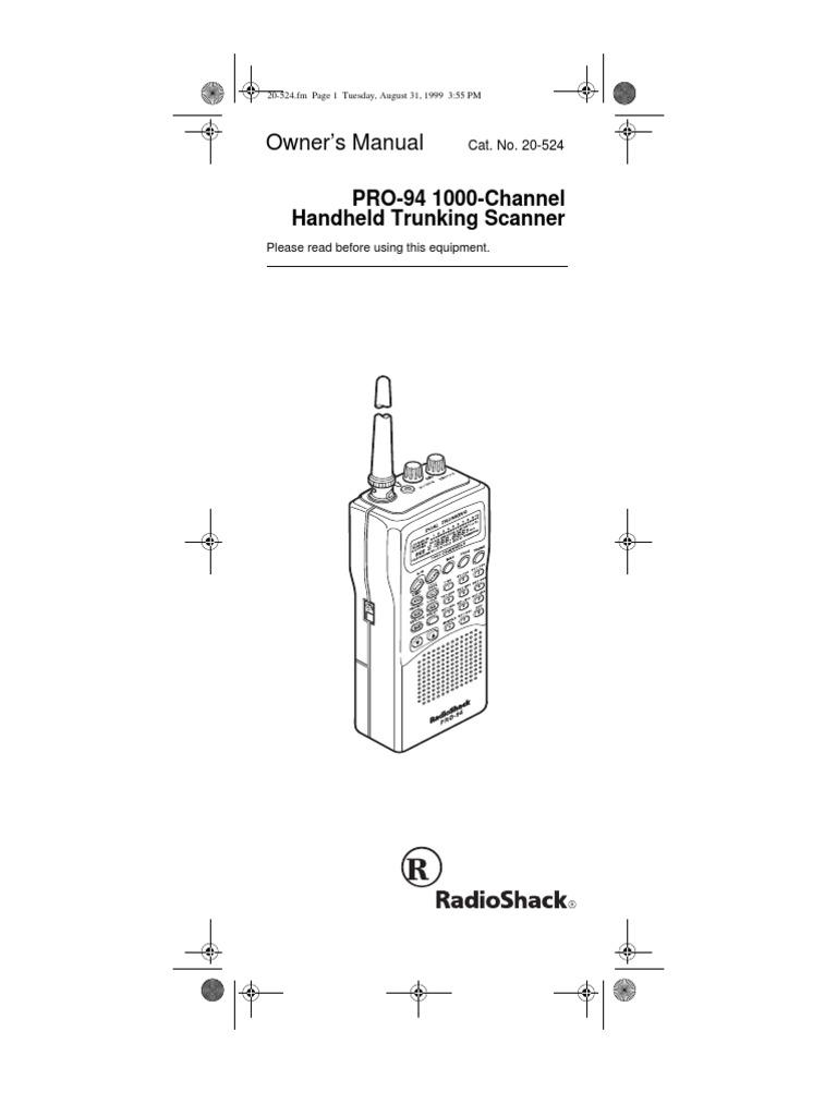 radio shack pro 94 battery electricity headphones rh scribd com PRO-94 Scanner Antenna PRO-94 Scanner Antenna