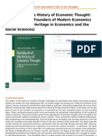 Handbook of the History of Economic Thought Insights on the Founders of Modern Economics (the European
