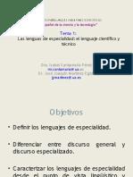 Las Lenguas de Especialidad