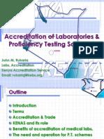 Accreditation of Labs & Profisiensi Test Schemes