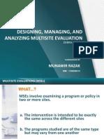 Designing, Managing, And Analyzing Multisite Evaluation - Munawir_pep