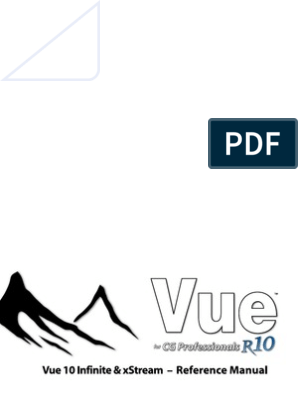 Vue 10 Reference Manual | Rendering (Computer Graphics) | Texture