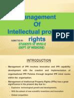 Management of Ipr