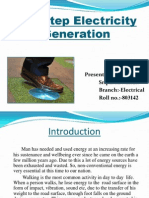 Footstep Electricity Ppt