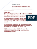 Amendment to the Payment of Bonus Act