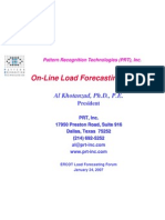On-Line Load Forecasting Services