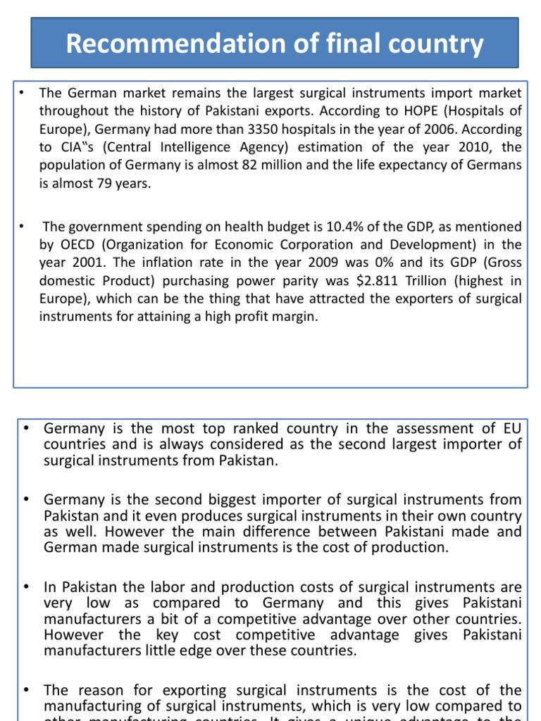 Export Ppt | Surgery | Pakistan