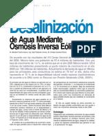 Desalinización de Agua Salobre Mediante Osmosis Inversa Eólica