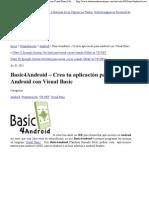 Crea tu aplicación para Android con Visual Basic  Historias de un Cazique