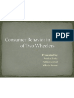 Consumer Behavior in Purchase of Two Wheelers