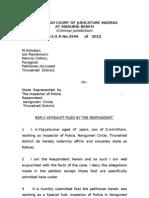 Inspr Vijayakumar, HC Reply (27.03)