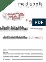 Programme colloque Mediapolis