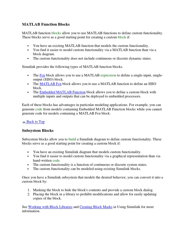 MATLAB Function Blocks | Matlab | Parameter (Computer
