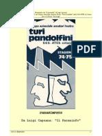 Carlo Manfredini- Allestimento di Paranymphus da Capuana