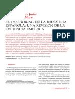 El offshoring en la industria española