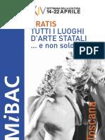 XIV Settimana della Cultura - Toscana 2012