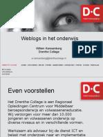 Weblogs in het onderwijs
