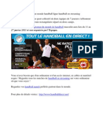 Championnat monde handball ligue handball en streaming