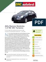 Alfa Romeo Giulietta 1 4 TB 16V Tursimo