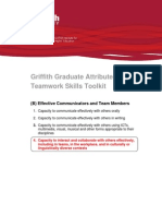Griffith Graduate Attributes - Teamwork Skills Toolkit