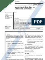NBR 06022 - 1994 - Apresentação de Artigos em Publicações Periódicas