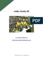 Haiku Poetry Kit