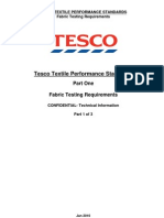 Tesco Textile Performance Standards Part 1 - Jan 2010