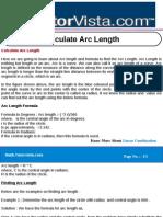 Calculate Arc Length