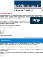 Solve Algebra Equations