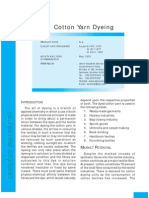 Cotton Yarn Dyeing Project Report