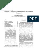 Concepto y Técnicas de la Propaganda y su Aplicación al Nazismo. Emma Rodero Antón.